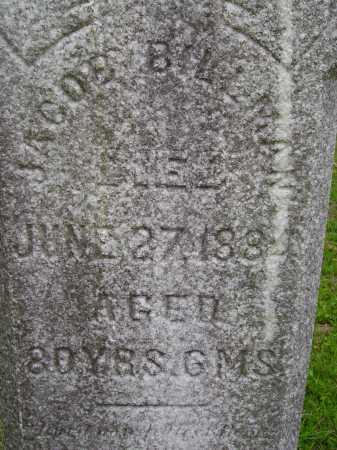 BILLMAN, JACOB - CLOSE VIEW - Wayne County, Ohio | JACOB - CLOSE VIEW BILLMAN - Ohio Gravestone Photos