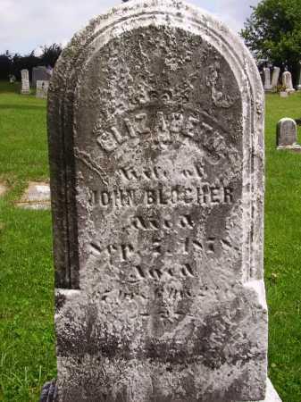 BLOCHER, ELIZABETH - Wayne County, Ohio | ELIZABETH BLOCHER - Ohio Gravestone Photos