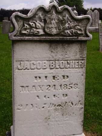 BLOCHER, JACOB - Wayne County, Ohio | JACOB BLOCHER - Ohio Gravestone Photos