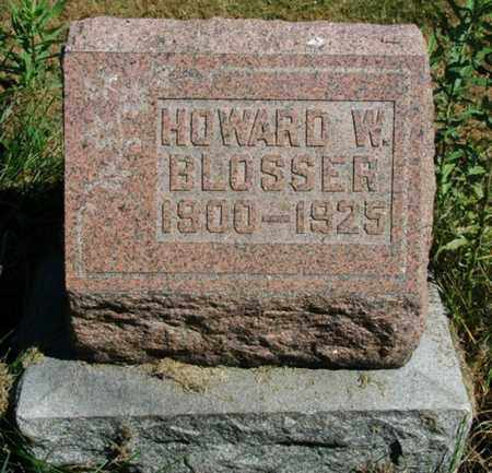 BLOSSER, HOWARD W. - Wayne County, Ohio | HOWARD W. BLOSSER - Ohio Gravestone Photos