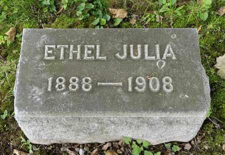 BONEWITZ, ETHEL JULIA - Wayne County, Ohio | ETHEL JULIA BONEWITZ - Ohio Gravestone Photos