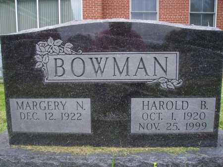 BOWMAN, MARGERY N. - Wayne County, Ohio | MARGERY N. BOWMAN - Ohio Gravestone Photos
