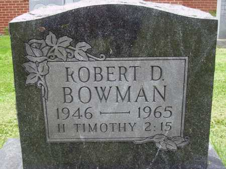 BOWMAN, ROBERT D. - Wayne County, Ohio | ROBERT D. BOWMAN - Ohio Gravestone Photos