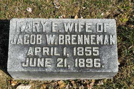 BRENNEMAN, MARY F. - Wayne County, Ohio | MARY F. BRENNEMAN - Ohio Gravestone Photos