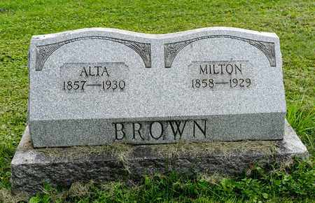 BROWN, ALTA - Wayne County, Ohio | ALTA BROWN - Ohio Gravestone Photos