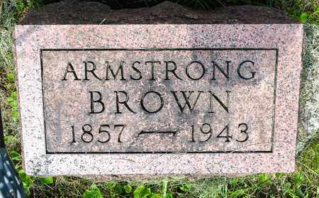 BROWN, ARMSTRONG - Wayne County, Ohio | ARMSTRONG BROWN - Ohio Gravestone Photos