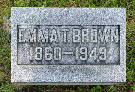 BROWN, EMMA T. - Wayne County, Ohio | EMMA T. BROWN - Ohio Gravestone Photos