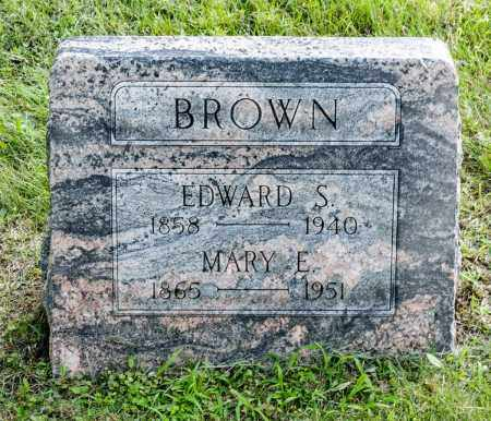 BROWN, EDWARD S. - Wayne County, Ohio | EDWARD S. BROWN - Ohio Gravestone Photos