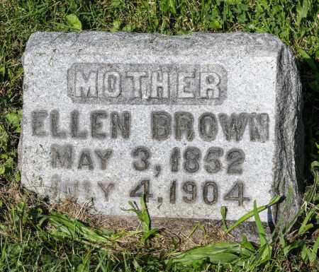 BROWN, ELLEN - Wayne County, Ohio | ELLEN BROWN - Ohio Gravestone Photos