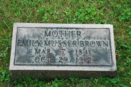 BROWN, EMILY - Wayne County, Ohio | EMILY BROWN - Ohio Gravestone Photos