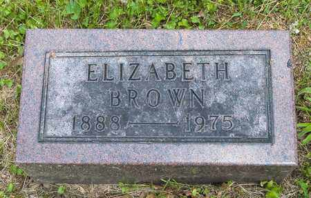 BROWN, ELIZABETH - Wayne County, Ohio | ELIZABETH BROWN - Ohio Gravestone Photos