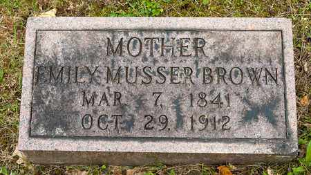 MUSSER BROWN, EMILY - Wayne County, Ohio | EMILY MUSSER BROWN - Ohio Gravestone Photos