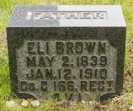 BROWN, ELI - Wayne County, Ohio | ELI BROWN - Ohio Gravestone Photos
