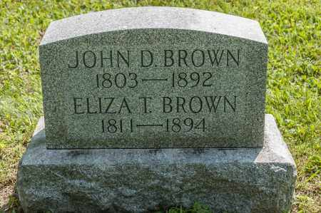 BROWN, JOHN D. - Wayne County, Ohio | JOHN D. BROWN - Ohio Gravestone Photos