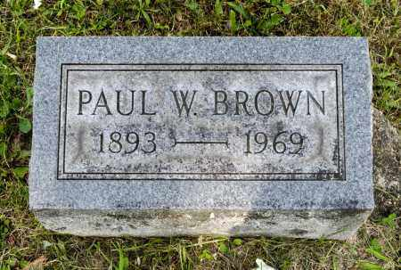 BROWN, PAUL W. - Wayne County, Ohio | PAUL W. BROWN - Ohio Gravestone Photos