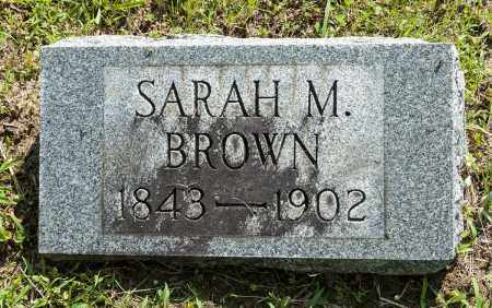 BROWN, SARAH M. - Wayne County, Ohio | SARAH M. BROWN - Ohio Gravestone Photos