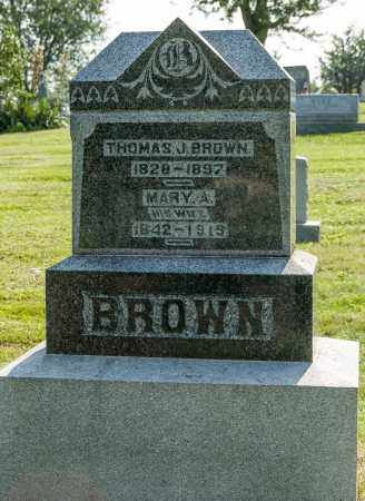 BROWN, THOMAS J. - Wayne County, Ohio | THOMAS J. BROWN - Ohio Gravestone Photos