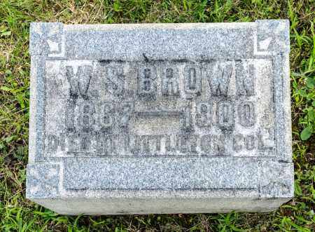 BROWN, WILLIAM S. - Wayne County, Ohio | WILLIAM S. BROWN - Ohio Gravestone Photos