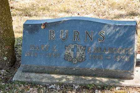 BURNS, E. BRADDOCK - Wayne County, Ohio | E. BRADDOCK BURNS - Ohio Gravestone Photos