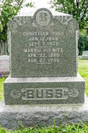 BUSS, CHRISTIAN - Wayne County, Ohio | CHRISTIAN BUSS - Ohio Gravestone Photos