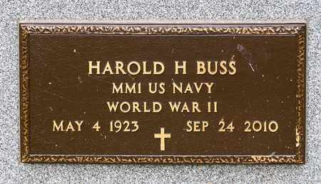 BUSS, HAROLD HARTER - Wayne County, Ohio | HAROLD HARTER BUSS - Ohio Gravestone Photos
