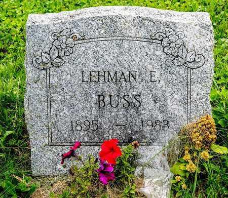 BUSS, LEHMAN E. - Wayne County, Ohio | LEHMAN E. BUSS - Ohio Gravestone Photos