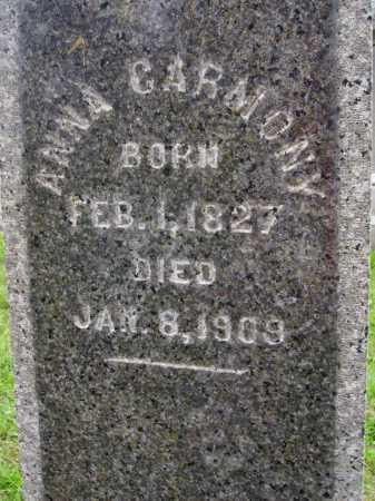 CARMONY, ANNA - Wayne County, Ohio | ANNA CARMONY - Ohio Gravestone Photos