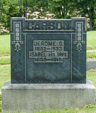 CARSON, ISABEL - Wayne County, Ohio | ISABEL CARSON - Ohio Gravestone Photos