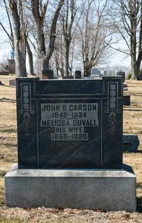 DUVALL CARSON, MELISSA - Wayne County, Ohio | MELISSA DUVALL CARSON - Ohio Gravestone Photos
