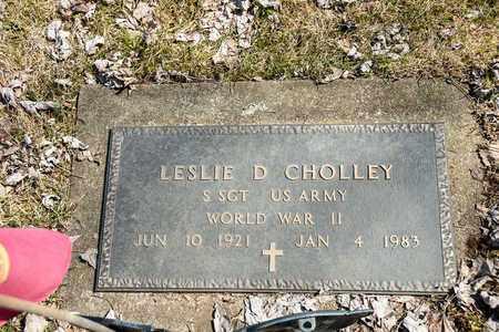 CHOLLEY, LESLIE D. - Wayne County, Ohio   LESLIE D. CHOLLEY - Ohio Gravestone Photos