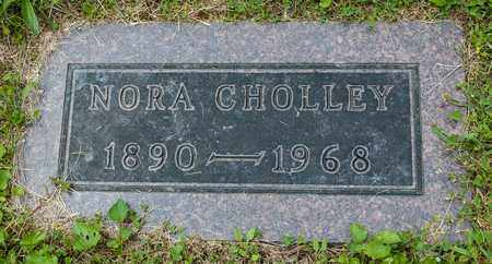 CHOLLEY, NORA - Wayne County, Ohio | NORA CHOLLEY - Ohio Gravestone Photos