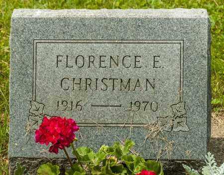 CHRISTMAN, FLORENCE E. - Wayne County, Ohio | FLORENCE E. CHRISTMAN - Ohio Gravestone Photos