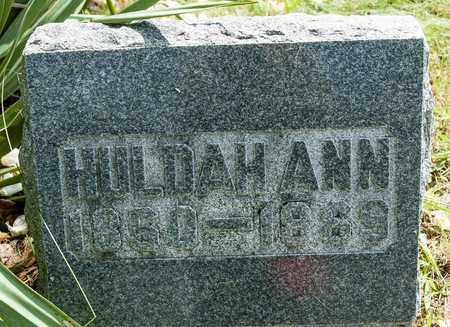 CORE, HULDAH ANN - Wayne County, Ohio | HULDAH ANN CORE - Ohio Gravestone Photos