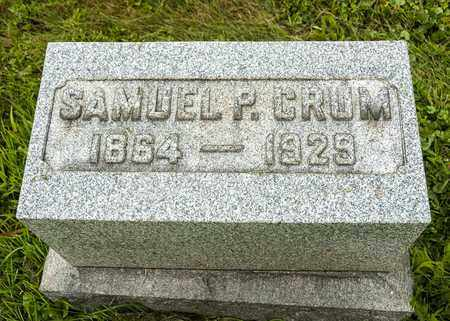 CRUM, SAMUEL P. - Wayne County, Ohio | SAMUEL P. CRUM - Ohio Gravestone Photos