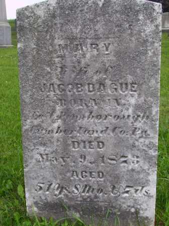 DAGUE, MARY - Wayne County, Ohio | MARY DAGUE - Ohio Gravestone Photos
