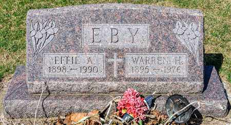 EBY, EFFIE A - Wayne County, Ohio | EFFIE A EBY - Ohio Gravestone Photos