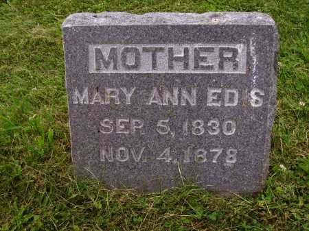 EDIS, MARY ANN - Wayne County, Ohio | MARY ANN EDIS - Ohio Gravestone Photos
