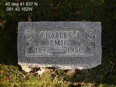 EMIG, CHARLES JOHN - Wayne County, Ohio | CHARLES JOHN EMIG - Ohio Gravestone Photos