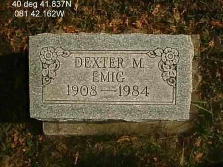 EMIG, DEXTER M. - Wayne County, Ohio | DEXTER M. EMIG - Ohio Gravestone Photos