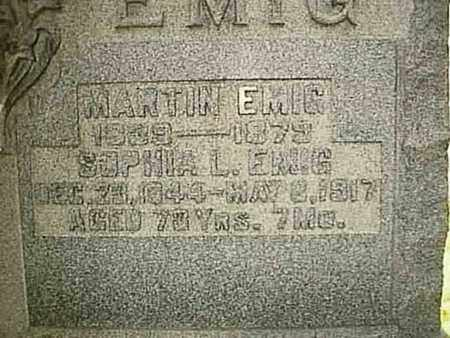 EMIG, SOPHIA L. - Wayne County, Ohio | SOPHIA L. EMIG - Ohio Gravestone Photos