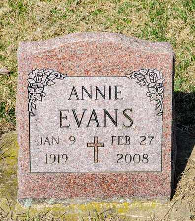 EVANS, ANNIE - Wayne County, Ohio | ANNIE EVANS - Ohio Gravestone Photos