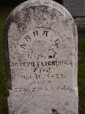 FLICKINGER, ANNA E. - Wayne County, Ohio | ANNA E. FLICKINGER - Ohio Gravestone Photos