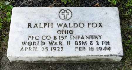 FOX, RALPH WALDO - Wayne County, Ohio | RALPH WALDO FOX - Ohio Gravestone Photos