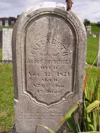 FRYBERGER, ELIZABETH - Wayne County, Ohio | ELIZABETH FRYBERGER - Ohio Gravestone Photos