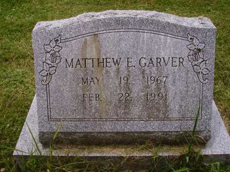 GARVER, MATTHEW E. - Wayne County, Ohio | MATTHEW E. GARVER - Ohio Gravestone Photos