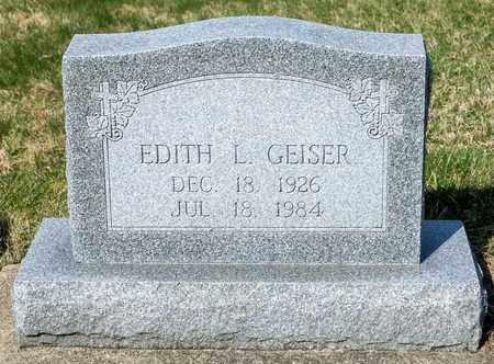 GEISER, EDITH L - Wayne County, Ohio | EDITH L GEISER - Ohio Gravestone Photos