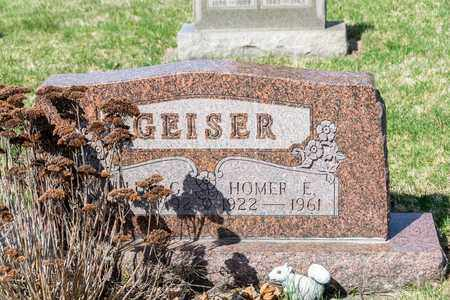 GEISER, HOMER E - Wayne County, Ohio | HOMER E GEISER - Ohio Gravestone Photos