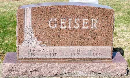 GEISER, LEEMAN J - Wayne County, Ohio | LEEMAN J GEISER - Ohio Gravestone Photos