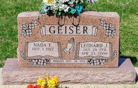 GEISER, LEONARD J - Wayne County, Ohio | LEONARD J GEISER - Ohio Gravestone Photos