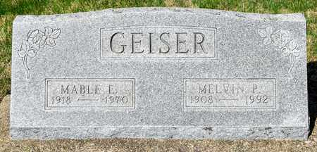 GEISER, MELVIN P - Wayne County, Ohio | MELVIN P GEISER - Ohio Gravestone Photos